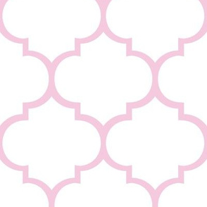 Fancy Lattice Pink Outline