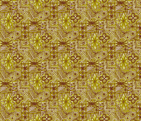 Kalakaua Ave ,golden sands fabric by sophista-tiki_by_dawn_frasier on Spoonflower - custom fabric