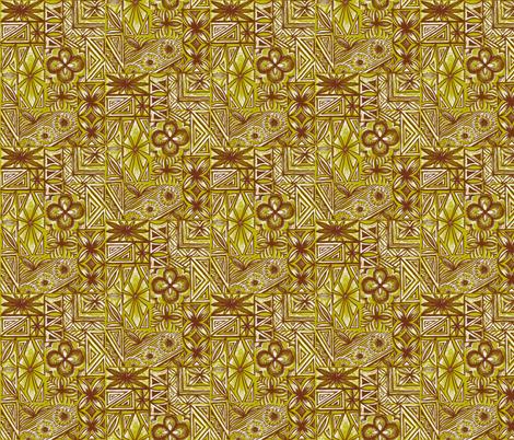 Kalakaua Ave ,golden sands fabric by sophista-tiki on Spoonflower - custom fabric