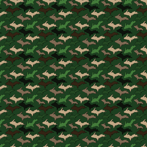 Dark Green U.P. Camo fabric by hmooreart on Spoonflower - custom fabric