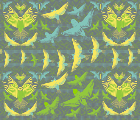 Birdzzz fabric by kanikamathur on Spoonflower - custom fabric