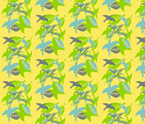 Birds fabric by kcs on Spoonflower - custom fabric
