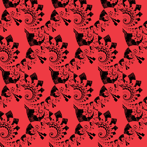 Fractal Tropical Stampings-ch-ch-ch fabric by clotilda_warhammer on Spoonflower - custom fabric