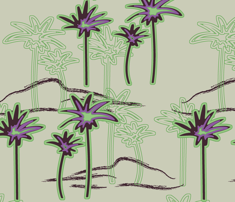 Palms Up fabric by angel_mio on Spoonflower - custom fabric
