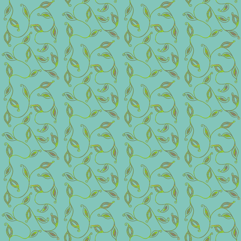 fancy_leaves-bl fabric by kerryn on Spoonflower - custom fabric