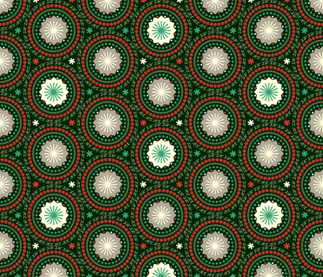 Ornamental Holiday Circles fabric by pennycandy on Spoonflower - custom fabric