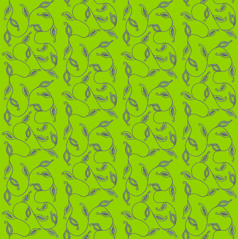fancy_leaves-grn fabric by kerryn on Spoonflower - custom fabric