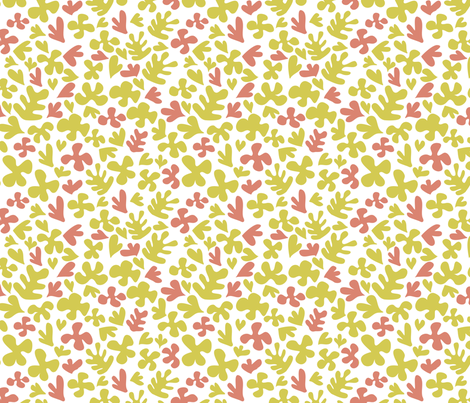 Matisse Inspired Fabric - Yellow & Peach