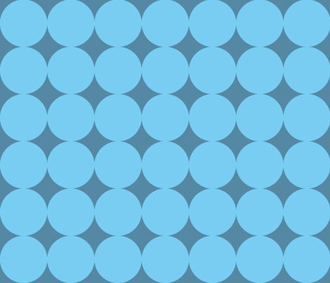 Mod blue circles on blue fabric by little_fish on Spoonflower - custom fabric