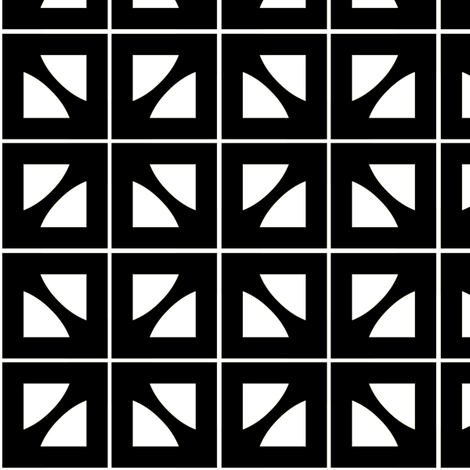 Ruben Black & White fabric by stoflab on Spoonflower - custom fabric