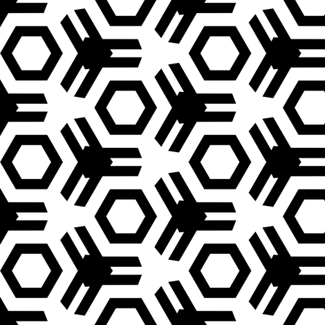 Lammers Black & White fabric by stoflab on Spoonflower - custom fabric