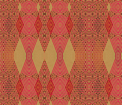 Ikat Pink Diamonds fabric by wren_leyland on Spoonflower - custom fabric