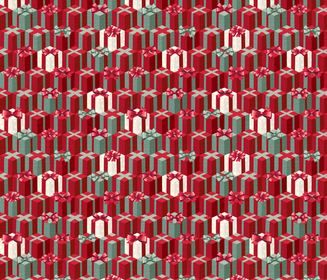 Holiday boxes fabric by papermoonpatterns on Spoonflower - custom fabric