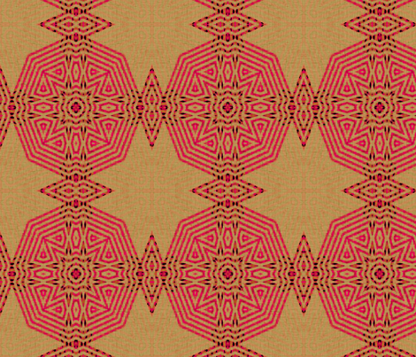 Ikat Pink Medallions fabric by wren_leyland on Spoonflower - custom fabric
