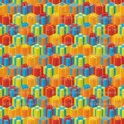 Festive Stacks of Mini Presents.