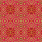 Ikat Fuschia- Circles and Posies
