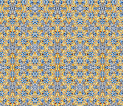 Blue and yellow fabric by aertbylisa on Spoonflower - custom fabric