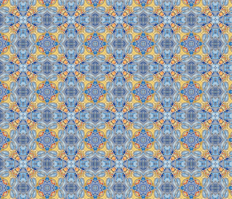 Blue and yellow again fabric by aertbylisa on Spoonflower - custom fabric