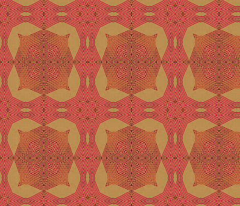 Ikat Pink Gong fabric by wren_leyland on Spoonflower - custom fabric