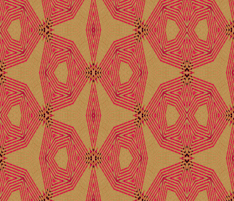 ikat-pink-triads fabric by wren_leyland on Spoonflower - custom fabric