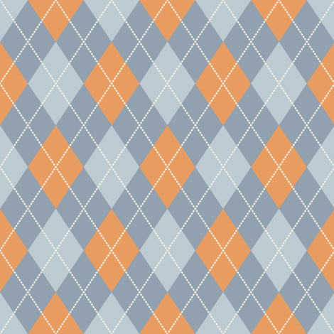 Dark Blue Argyle with Dark Yellow