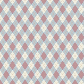 Mauve and Blue Argyle