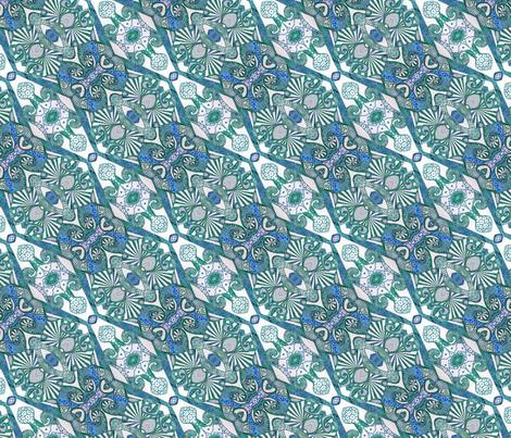 Azure inks fabric by lisa_cat on Spoonflower - custom fabric