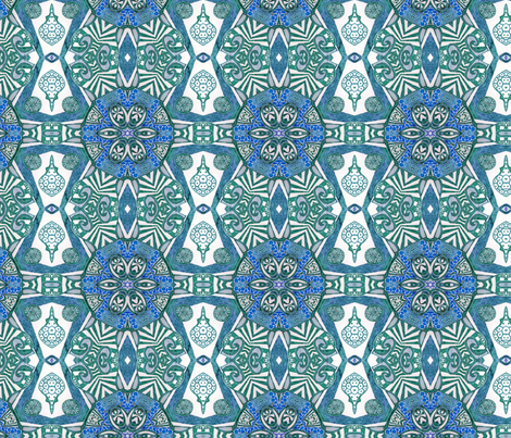 Azure ink shield fabric by lisa_cat on Spoonflower - custom fabric