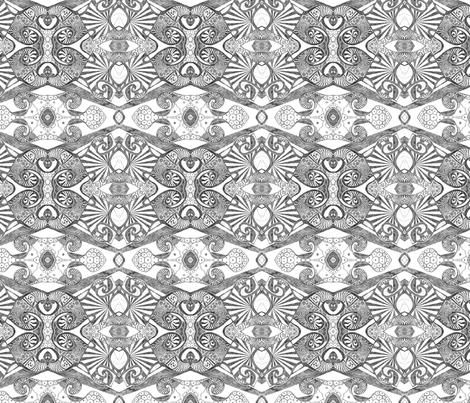 Azure ink (black and white) fabric by lisa_cat on Spoonflower - custom fabric