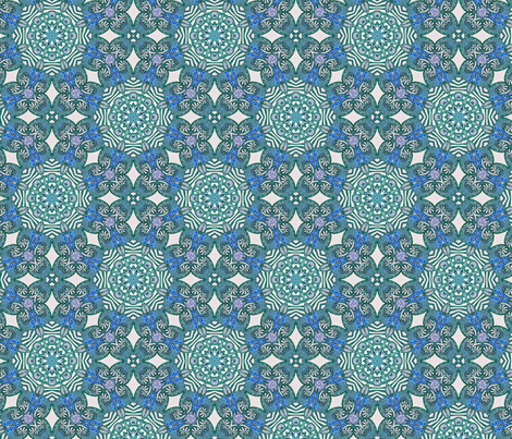 Azure ink vibrance fabric by lisa_cat on Spoonflower - custom fabric