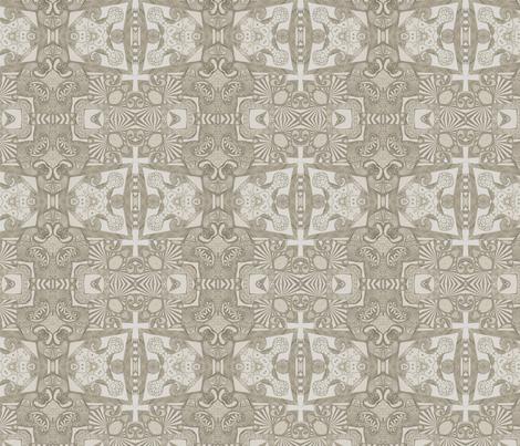 Azure ink cross (concrete) fabric by lisa_cat on Spoonflower - custom fabric