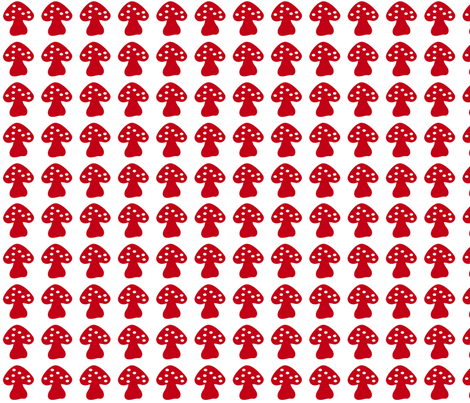 mushroom red fabric by lene_bomholt on Spoonflower - custom fabric