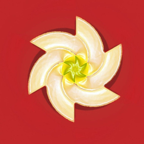 White Flower on Red