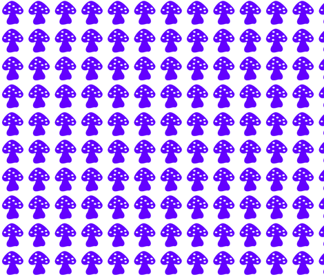 mushroom purple fabric by lene_bomholt on Spoonflower - custom fabric
