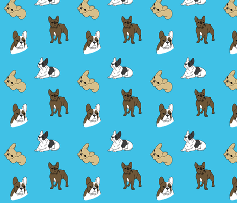 Frenchies fabric by darlingdearest on Spoonflower - custom fabric