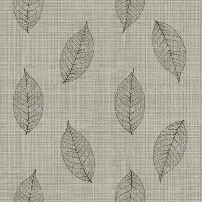 skeleton leaves on linen