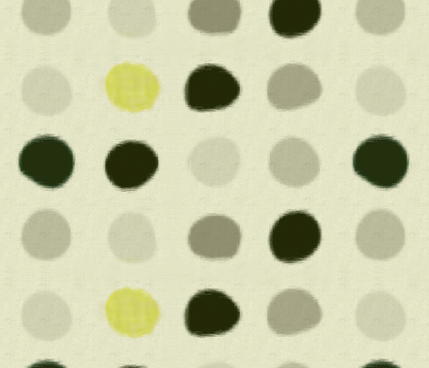 Gray Ikat Blobs  fabric by wren_leyland on Spoonflower - custom fabric