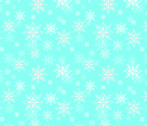 Mix + Match Snowflakes fabric by fable_design on Spoonflower - custom fabric