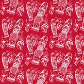 Tiki Holiday santa red