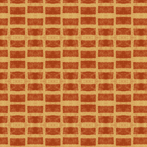 Old French Grain Sack - terra cotta pot fabric by materialsgirl on Spoonflower - custom fabric