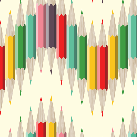 Rainbow Pencil Chevron fabric by candyjoyce on Spoonflower - custom fabric