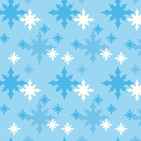 Pointed Flakes fabric by sugarxvice on Spoonflower - custom fabric