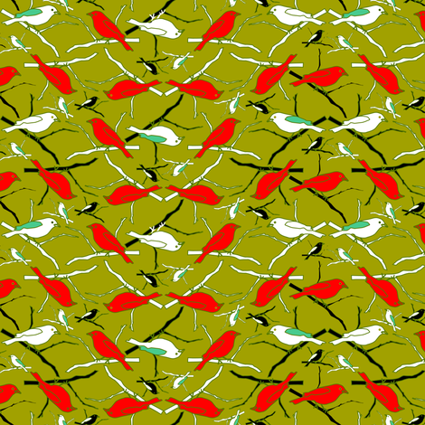 Tropical Birds 2 fabric by mag-o on Spoonflower - custom fabric