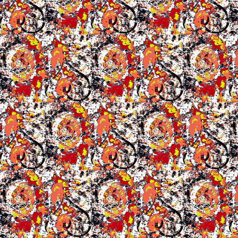 hearts and flowers-5 fabric by dk_designs on Spoonflower - custom fabric