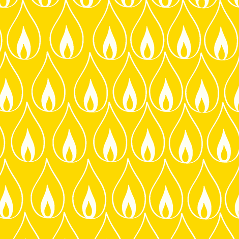 Golden Flame fabric by fable_design on Spoonflower - custom fabric