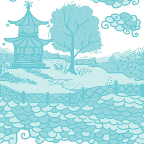 Cloud_Pagoda-aqua/white sky