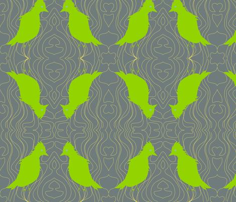 Sad Bird fabric by kcs on Spoonflower - custom fabric