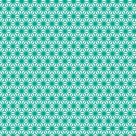 asanoha mini in emerald fabric by chantae on Spoonflower - custom fabric