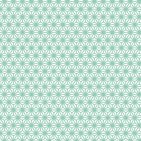 asanoha mini in jade fabric by chantae on Spoonflower - custom fabric