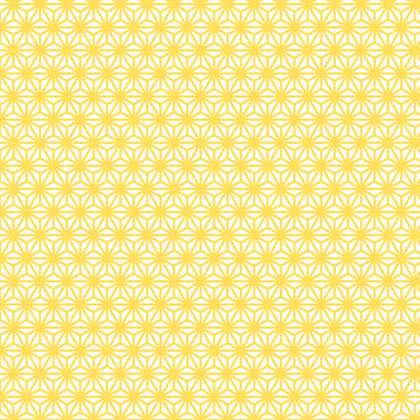 asanoha mini in citrine fabric by chantae on Spoonflower - custom fabric
